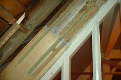 Epoxy and timber repair to dry rot affected rafter