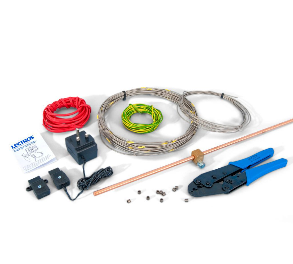 Lectros electro osmosis anodes and power pack